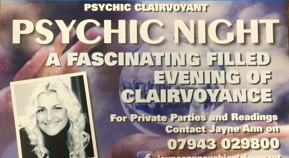Psychic clairvoyant at Mariners Park next month