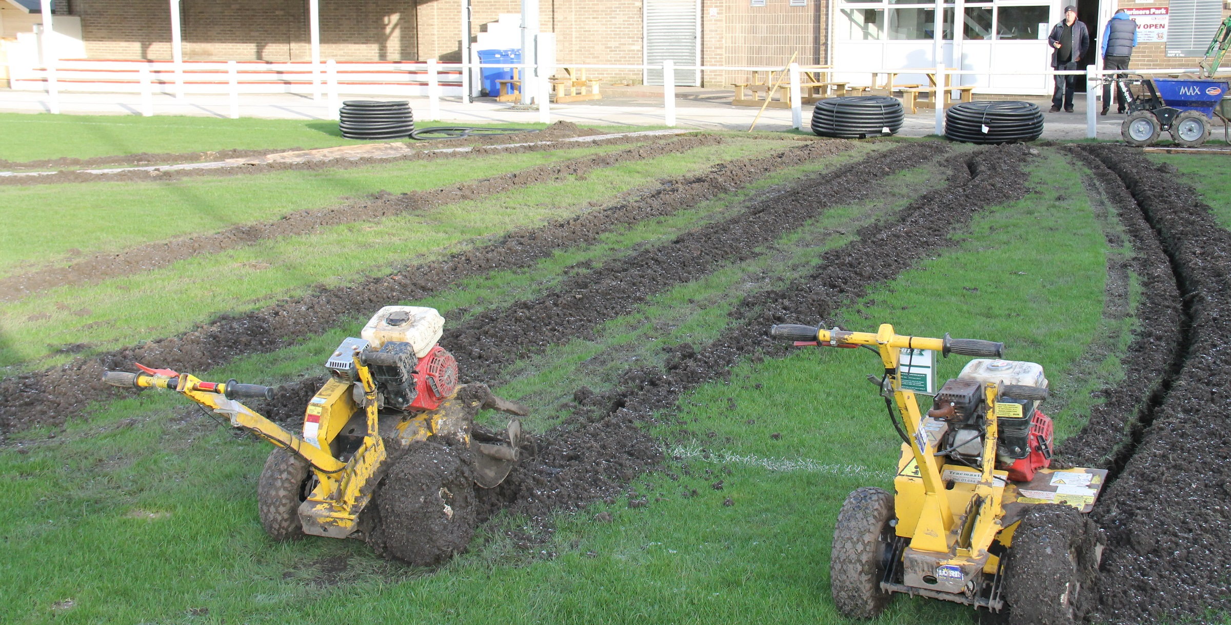 Volunteers requested as work continues on Mariners Park pitch