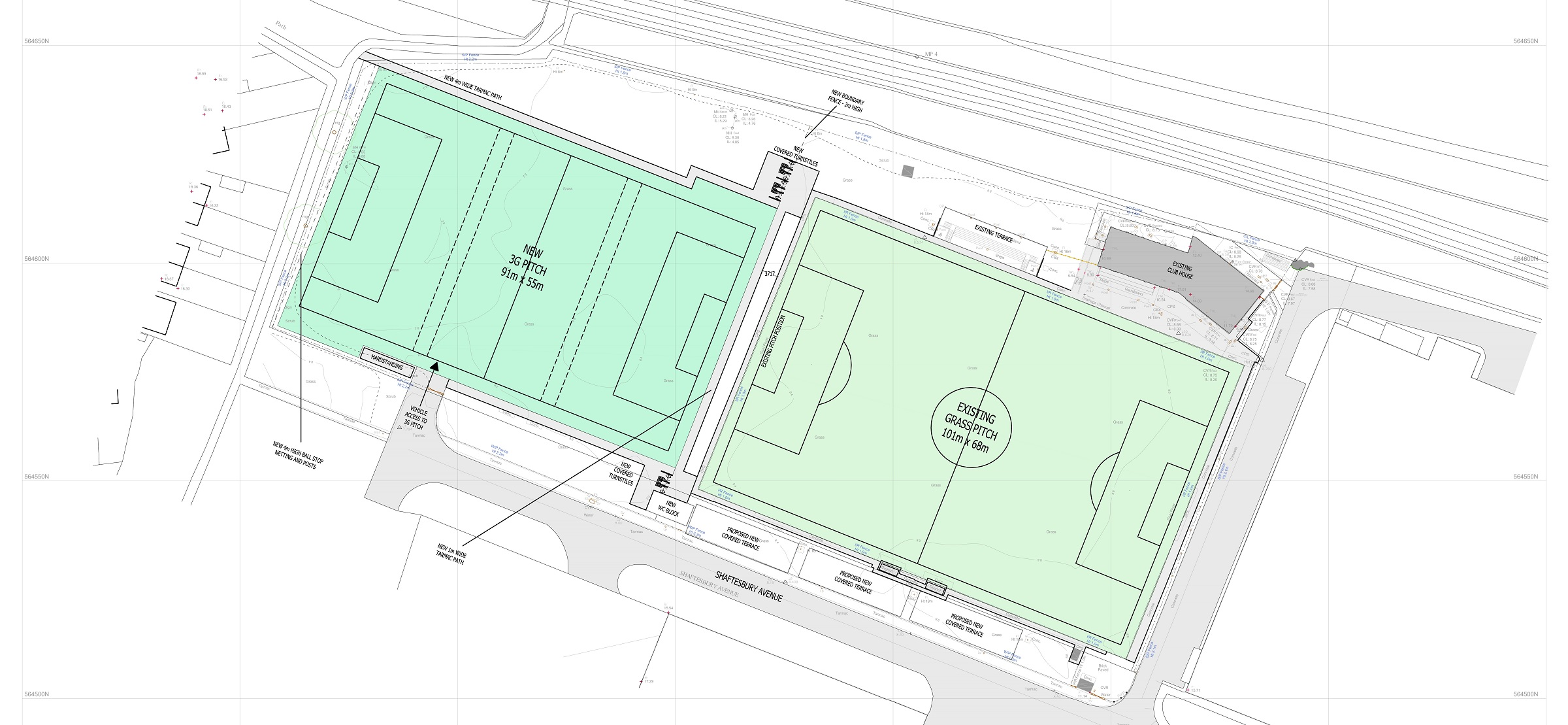 Plans for 3G pitch and new stands at Mariners Park revealed