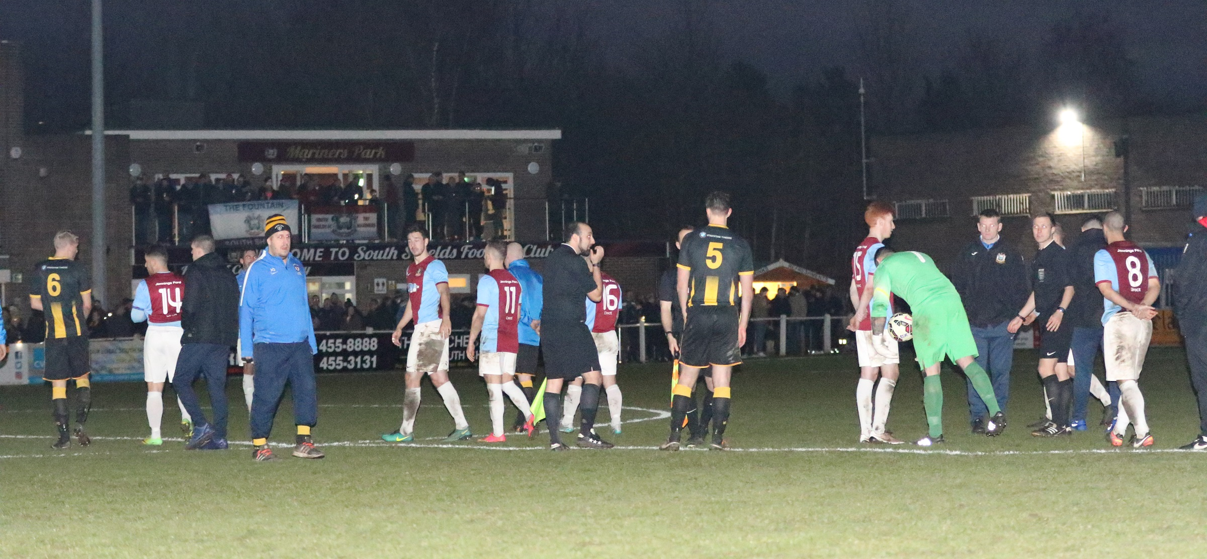 South Shields A-A Morpeth Town: Game abandoned as floodlights fail