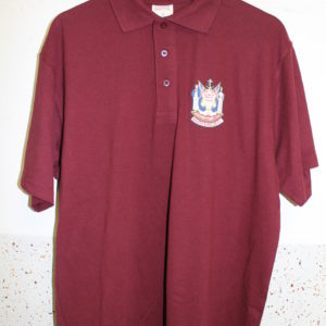 New polo shirt claret