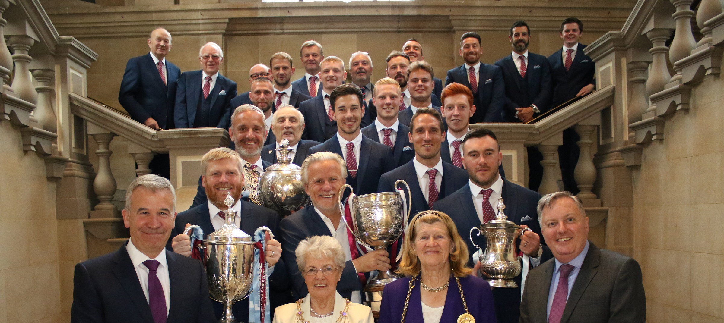Club receives civic reception at South Shields Town Hall