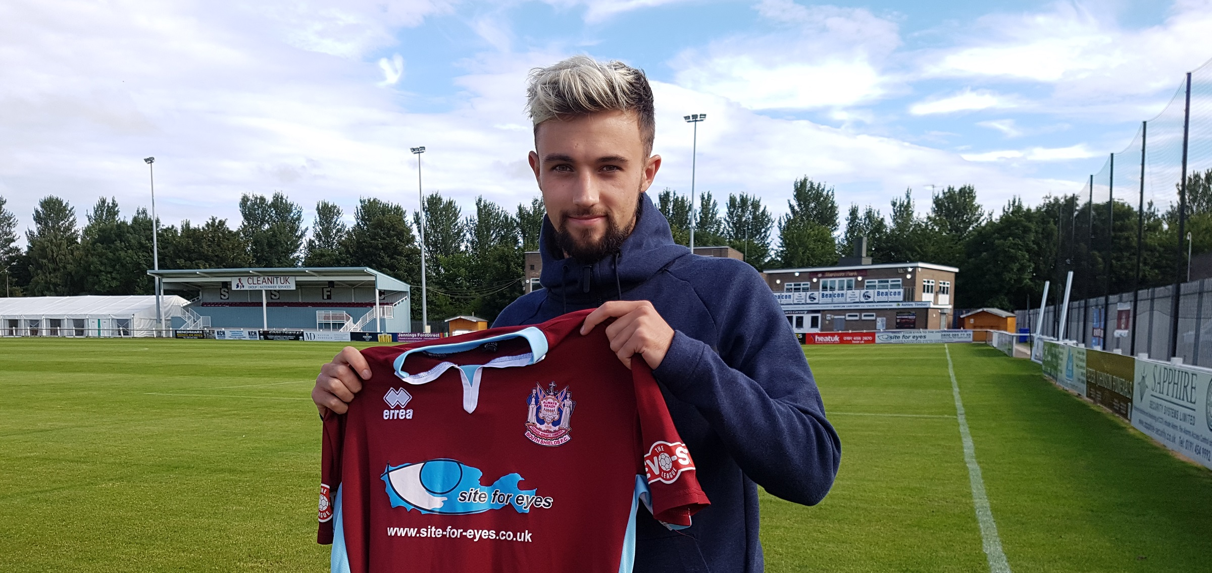 Jamie Holmes delighted to be on board after joining South Shields
