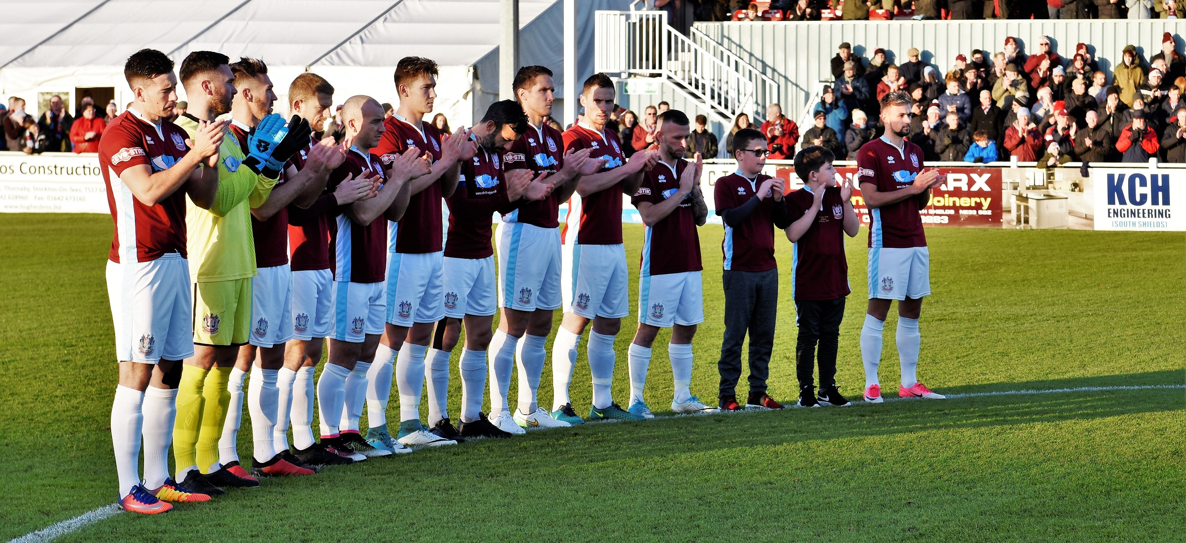 Emotional tributes paid to Jak Fada at Droylsden game