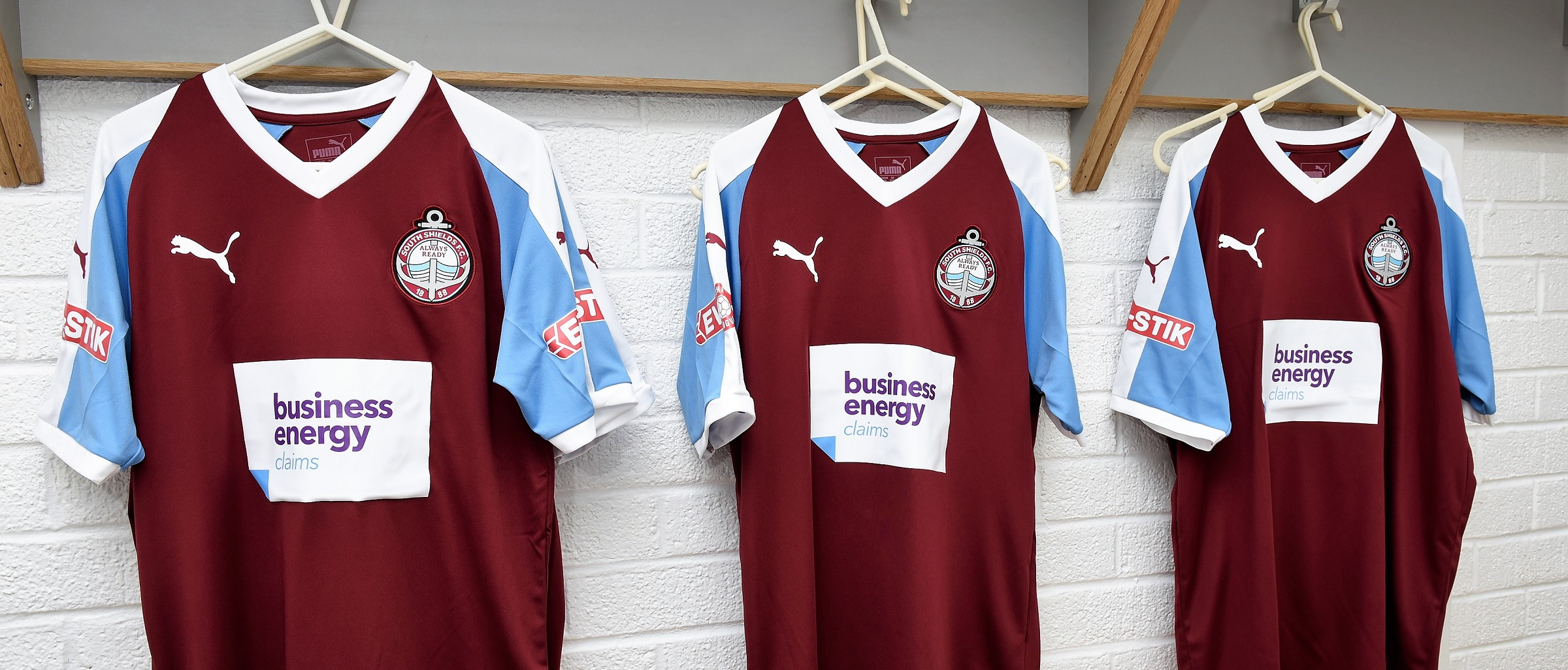 Pre-ordered home and away shirts ready to collect