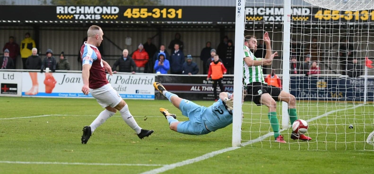 South Shields 4-0 North Ferriby United: Foley hat-trick in thumping win