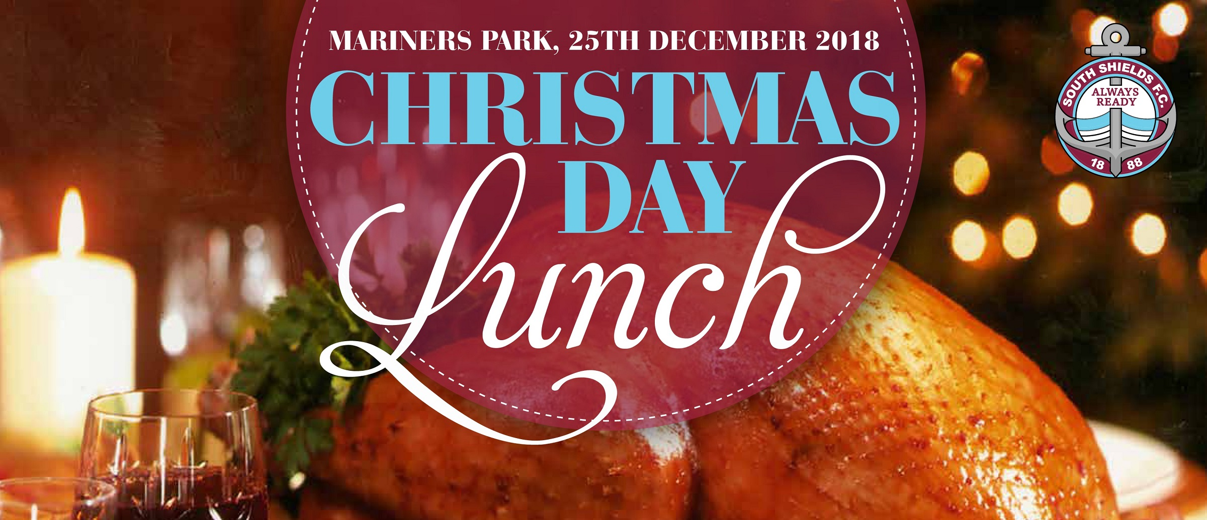 Book now for Christmas Day lunch at Mariners Park!
