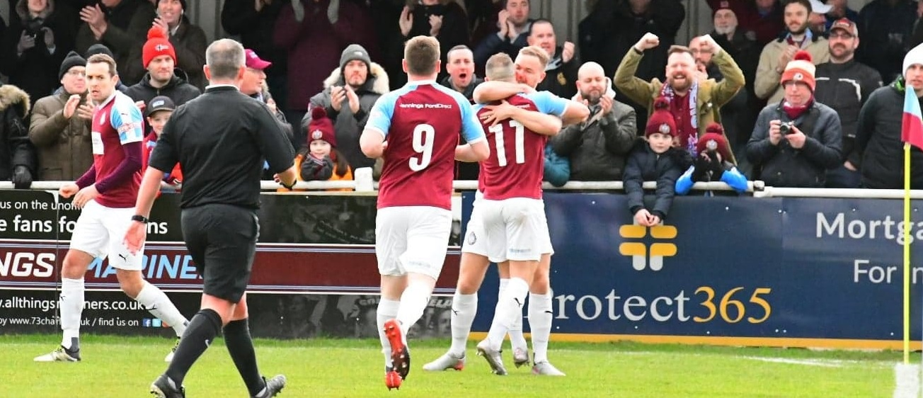 South Shields 5-2 Whitby Town: Mariners march on at home