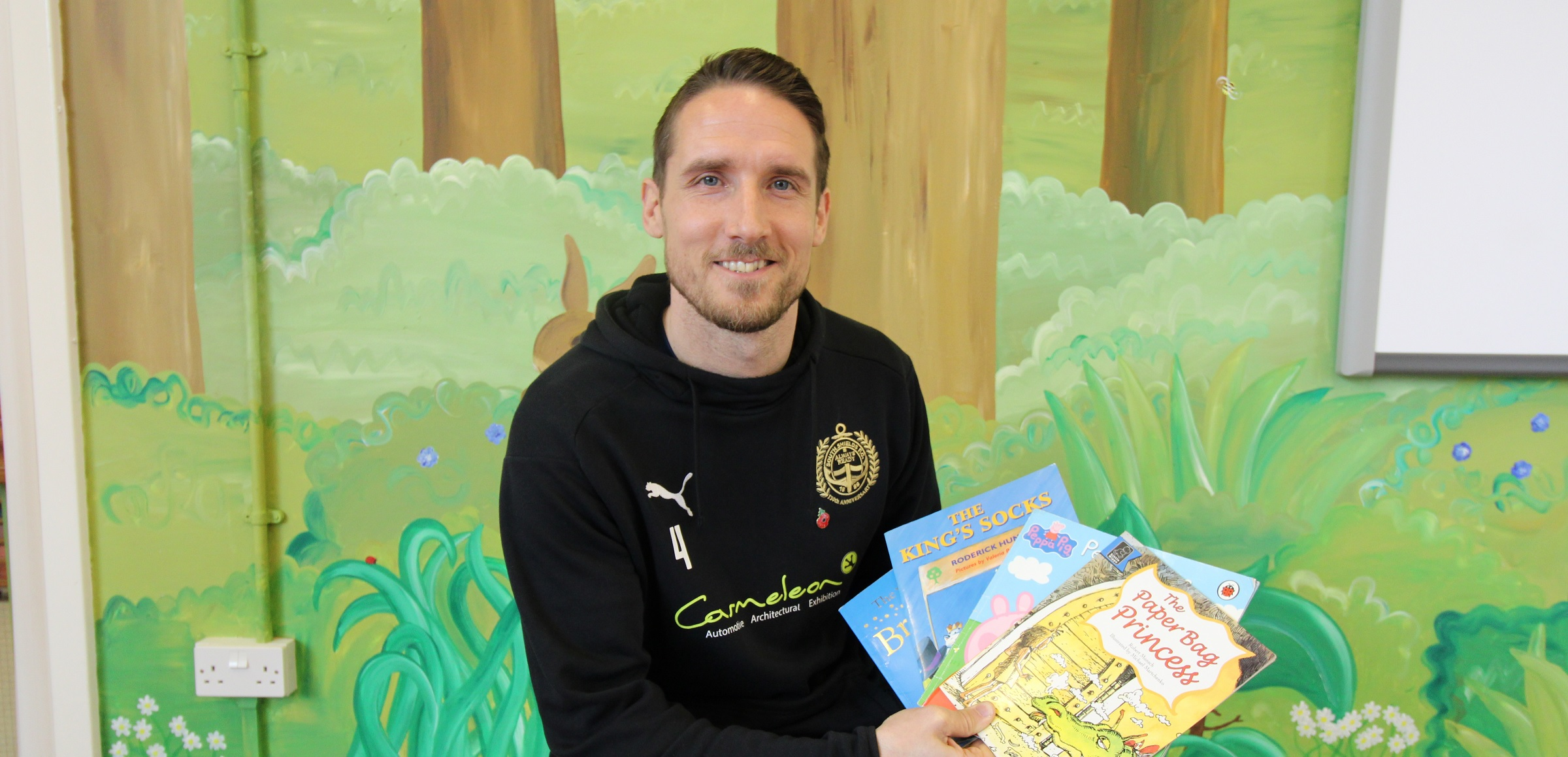 Jon Shaw goes back to school on World Book Day