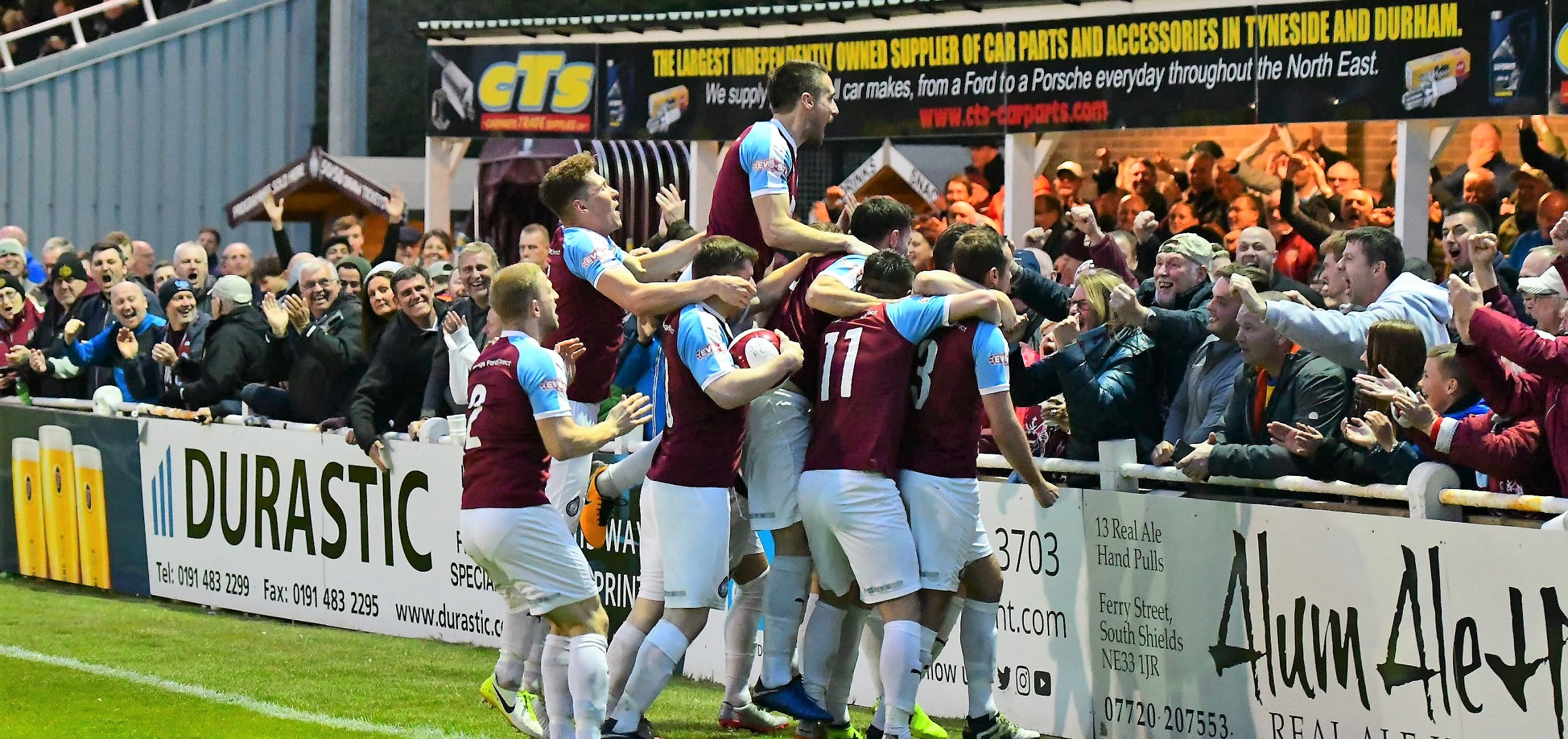 South Shields 4-2 Buxton: Mariners win pulsating play-off tie