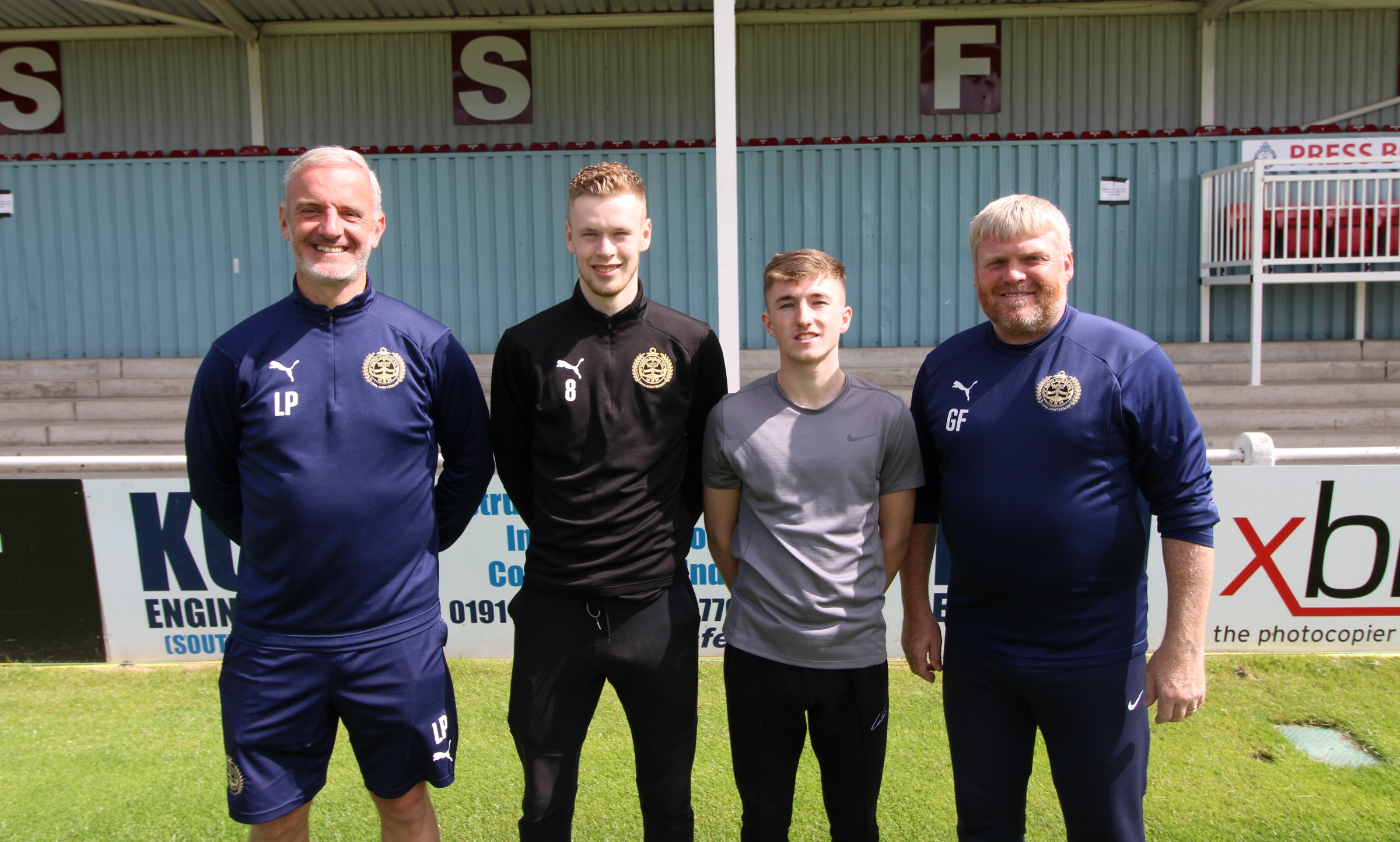 Arron Thompson and Callum Guy sign first-team contracts with SSFC