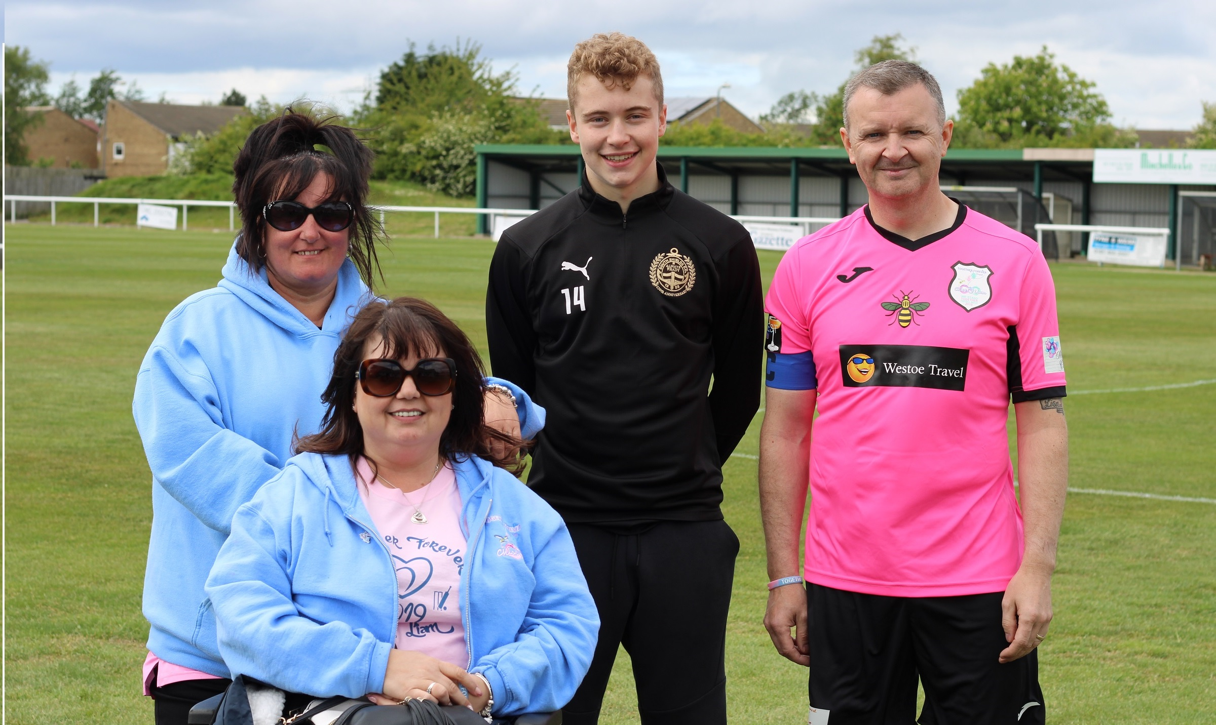 Josh continues football dream thanks to help from Chloe and Liam Together Forever Trust