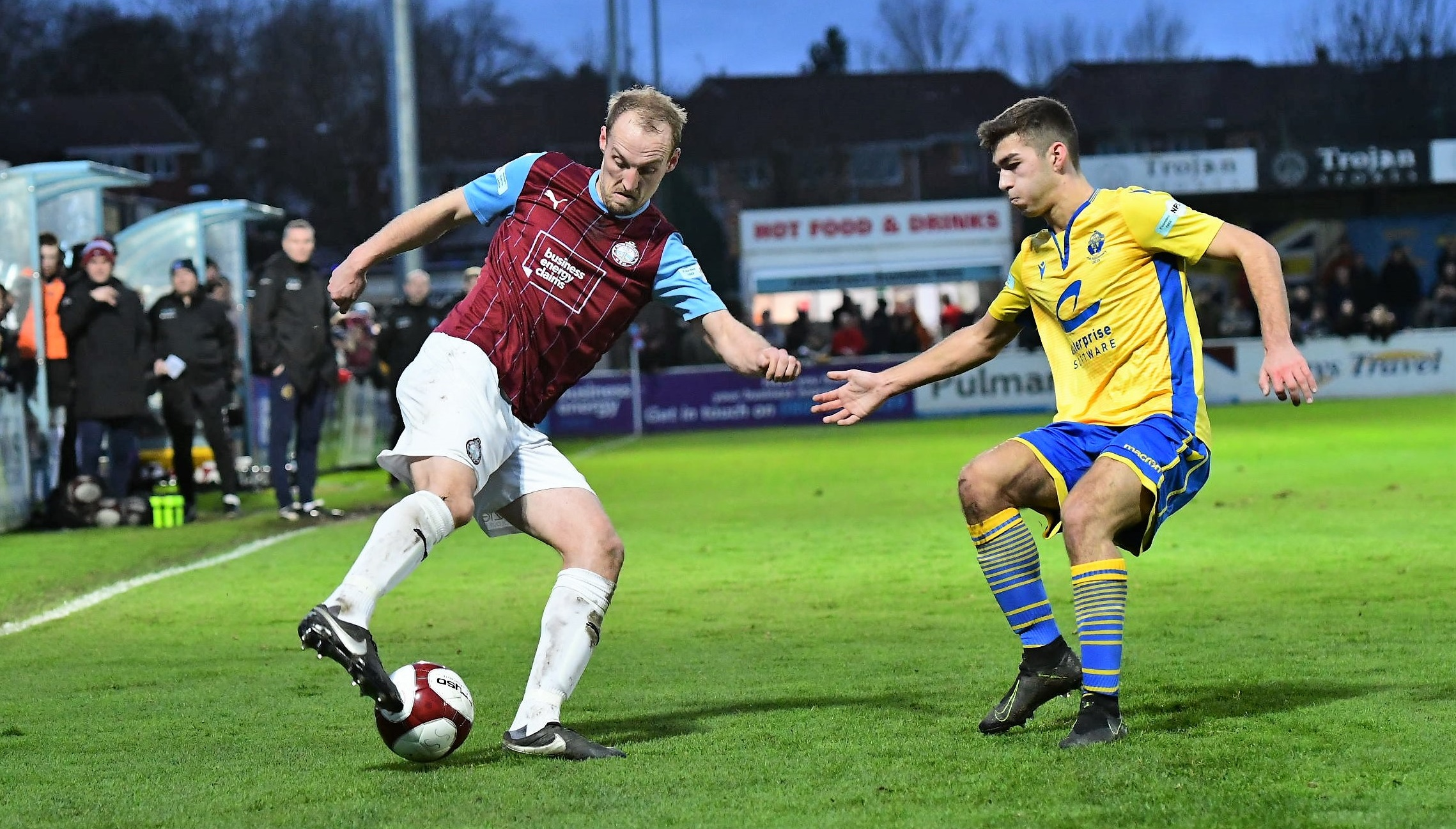 South Shields 1-1 Warrington Town: Brilliant 10-man Mariners battle to point