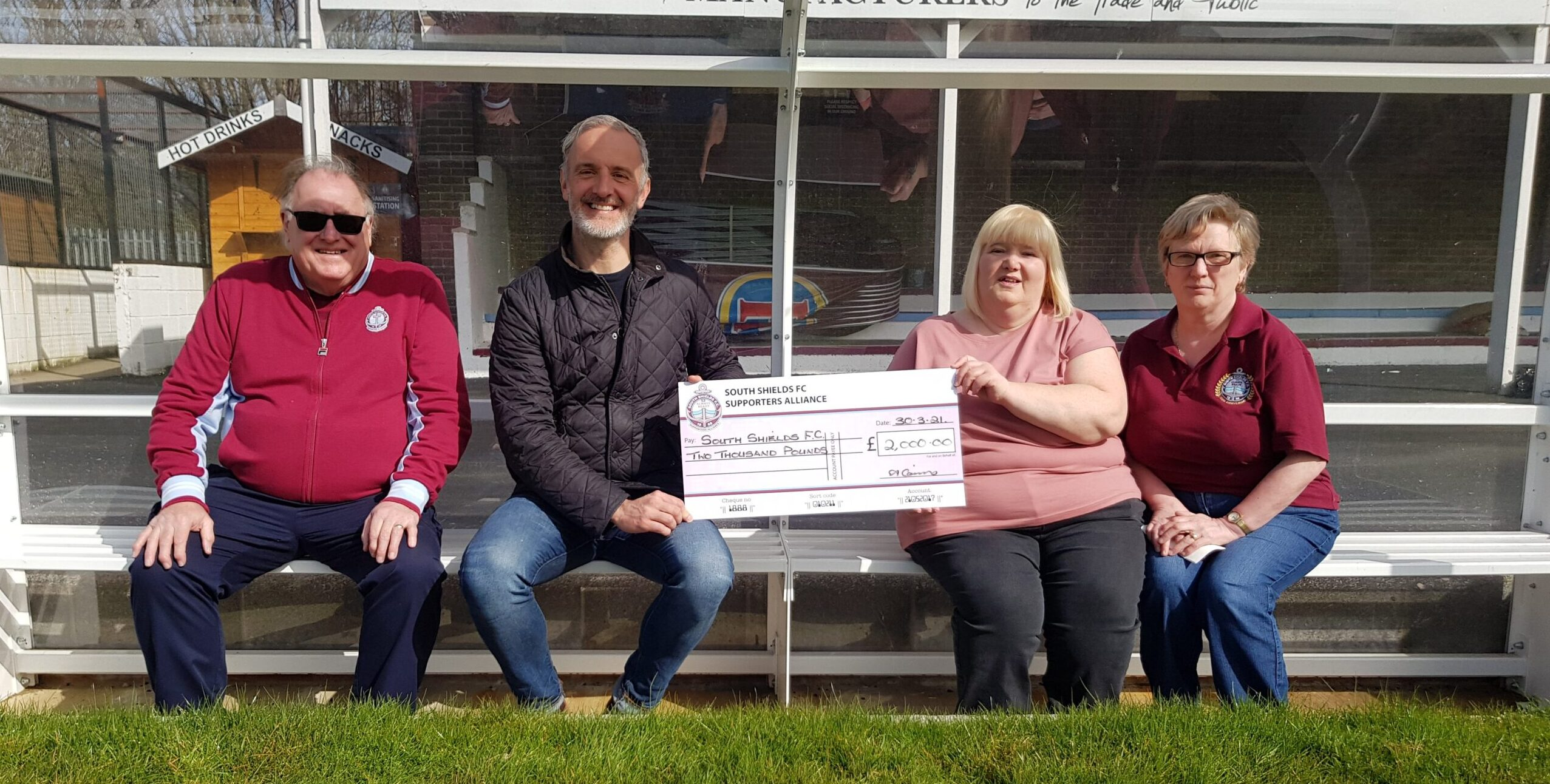 Supporters Alliance presents club with cheque for £2,000