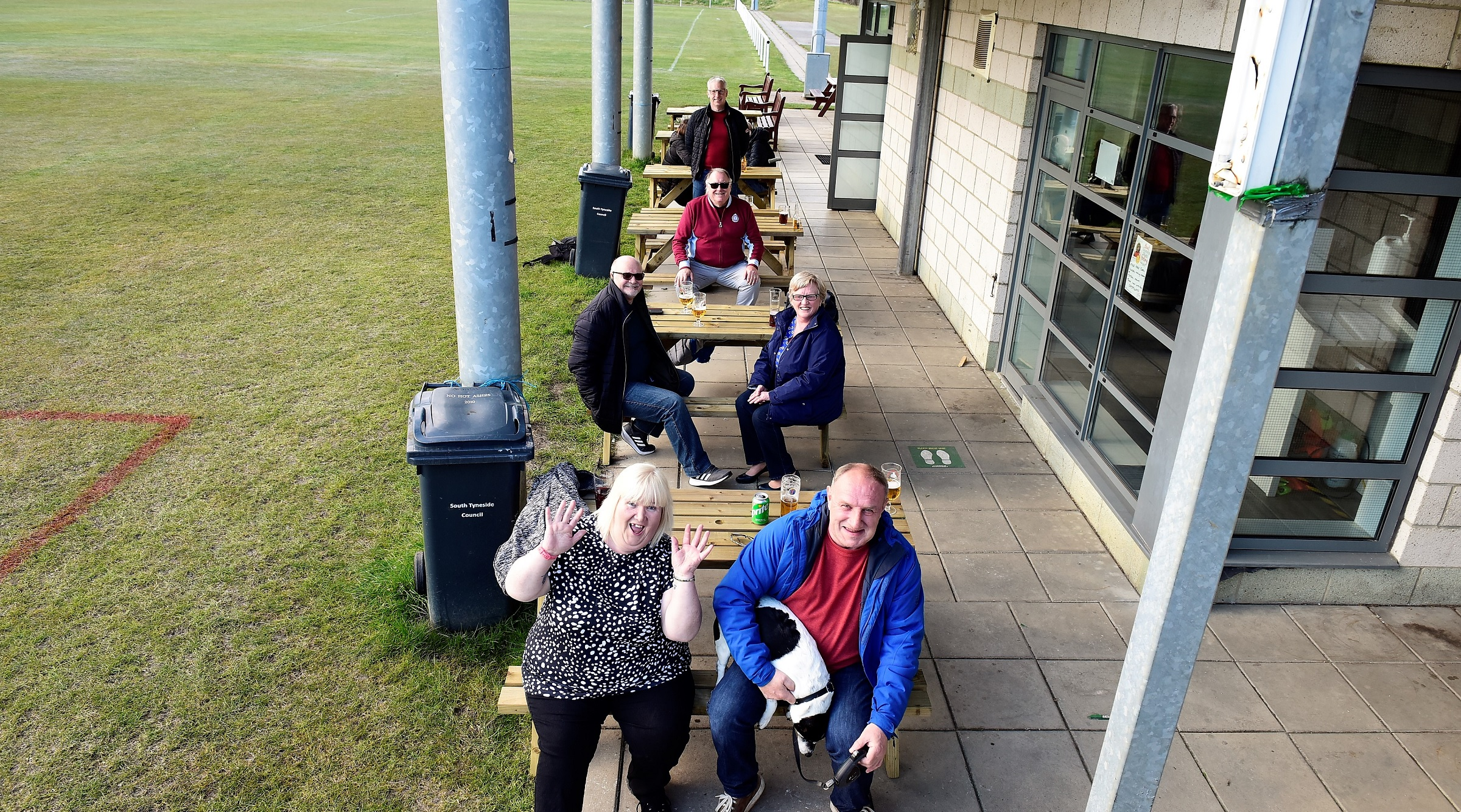 On the bench: Fans pitch in to help open Welfare drinking area